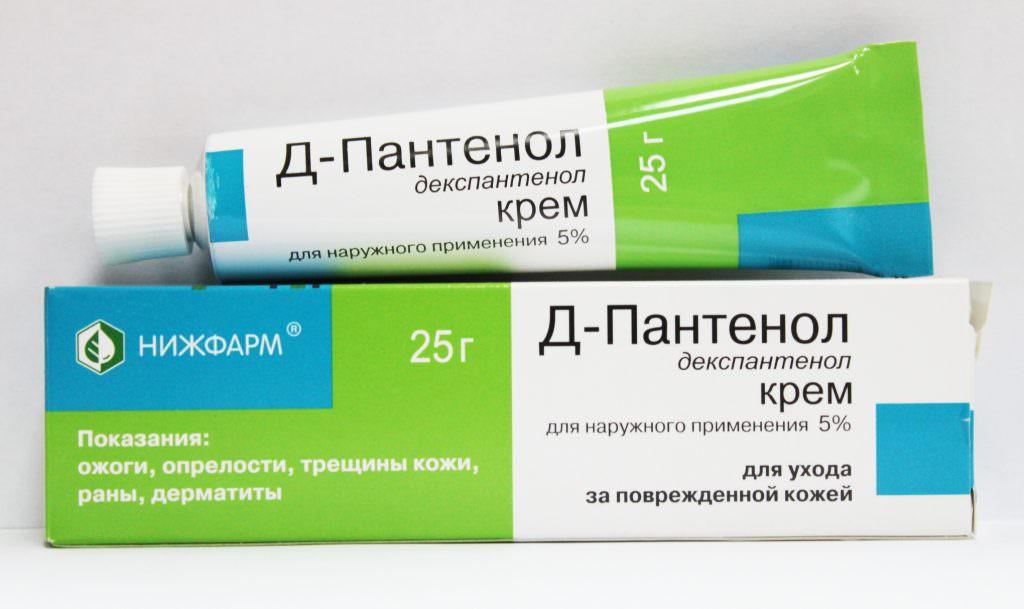 Воздействие крема Д-Пантенол