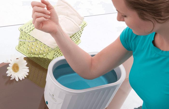 Ванночка с целебным раствором